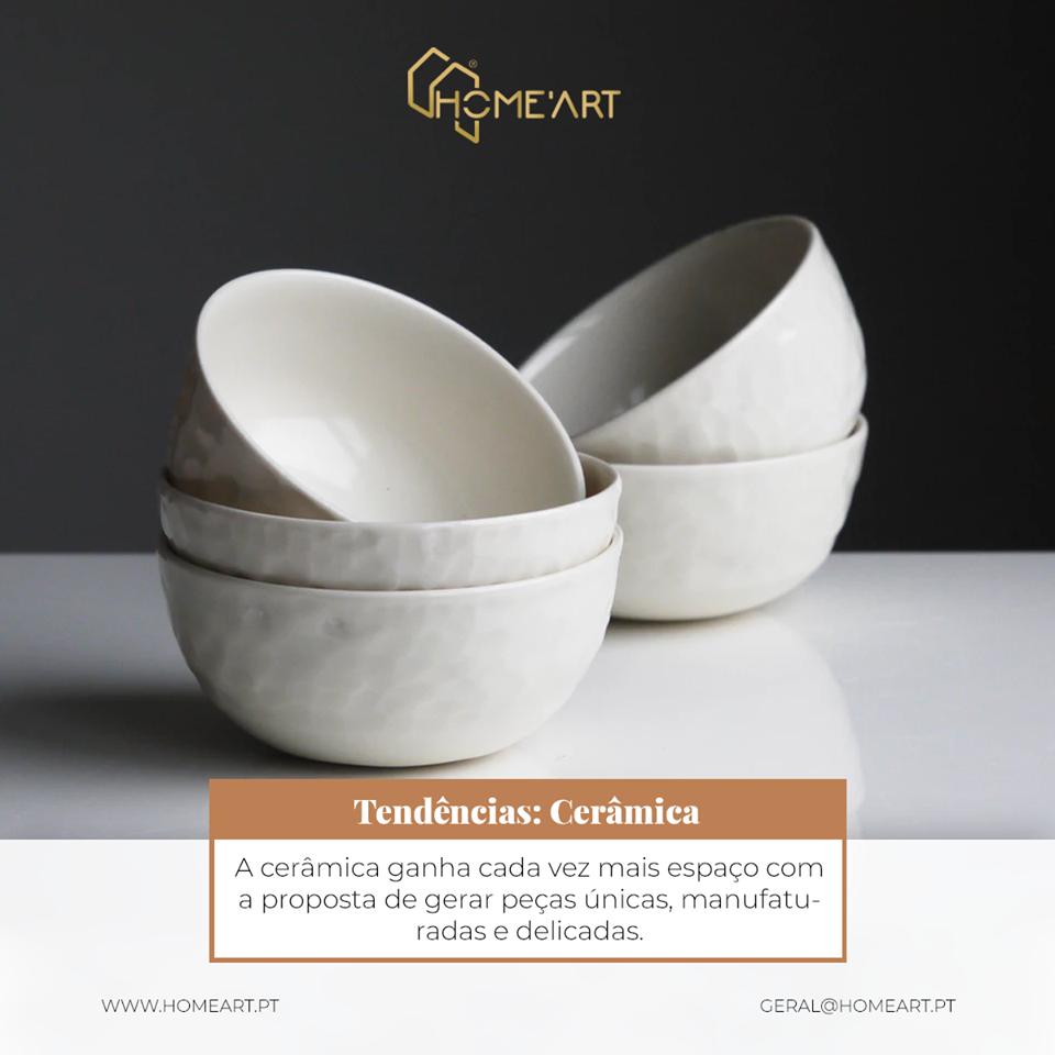 A cerâmica ganha cada vez mais espaço com a proposta de gerar peças únicas, manufaturadas e delicadas.