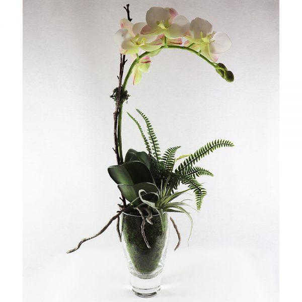 Vaso Vidro c/ Orquídea