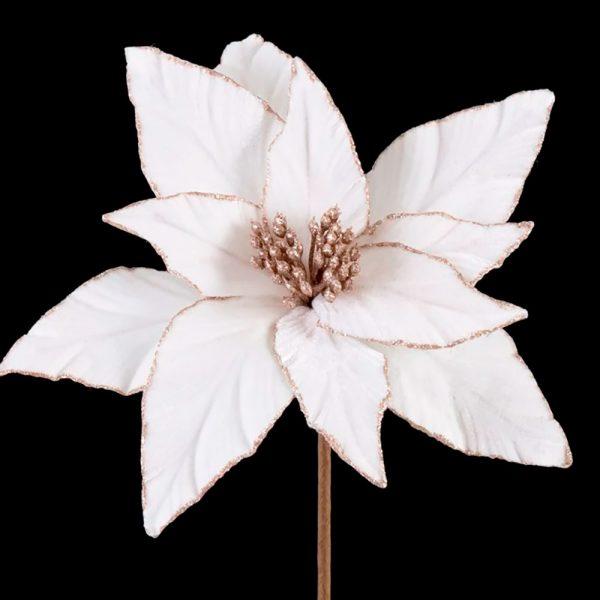 Flor Tecido Branco