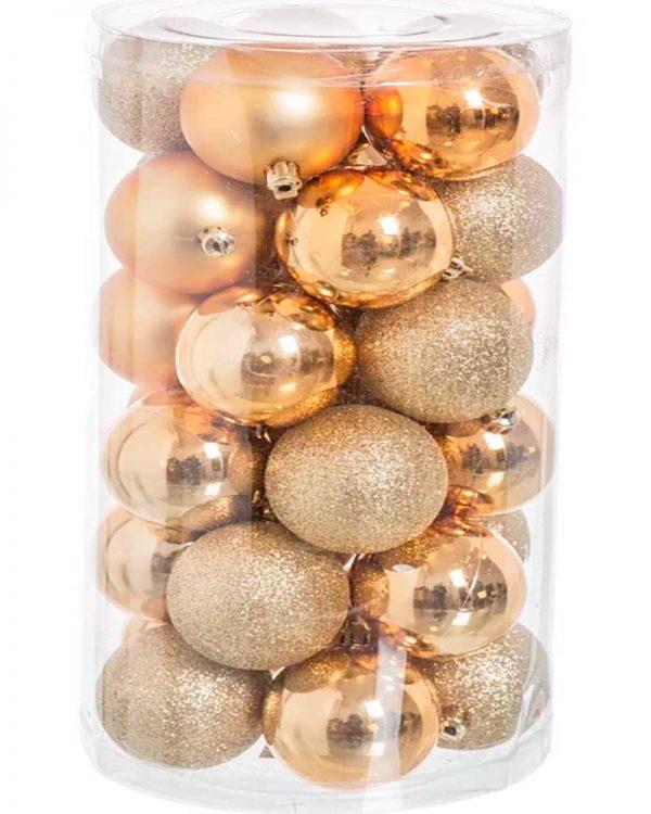 Set 30 bolas Dourado Liso