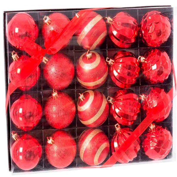 Set 20 bolas decoradas