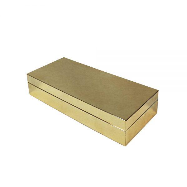 Caixa de Metal Dourada