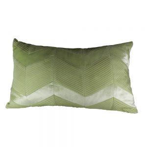 Almofada Veludo Zig Zag Plissada Verde | Homeart - Design e Decoração de Interiores | 18000206