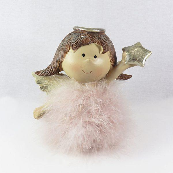 Anjo Cerâmica com Plumas 18 cm