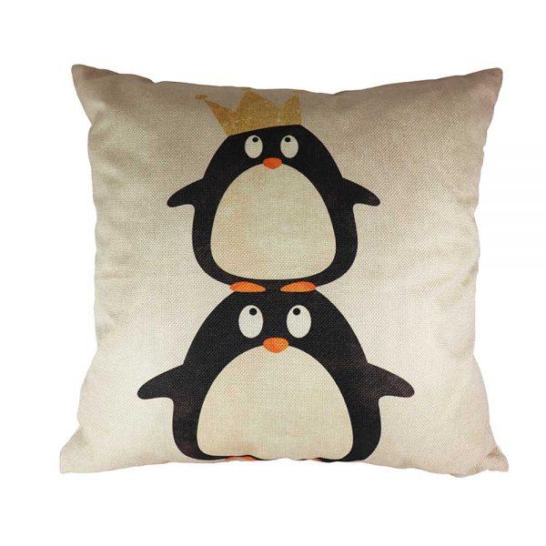 Almofada Linho Pinguins