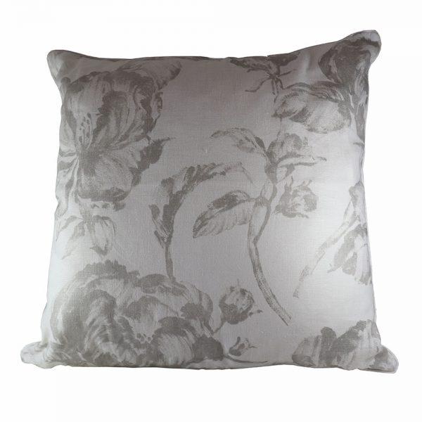 Almofada Linho Grey Flowers