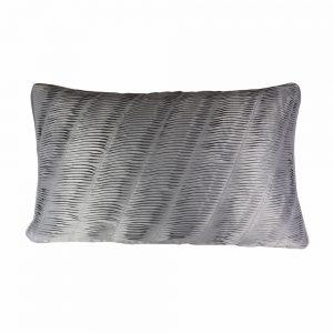 Almofada Cetim Grey Plissada | Homeart - Design e Decoração de Interiores | 18000484