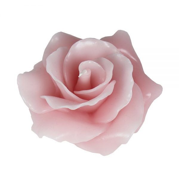 Vela em formato Rosa