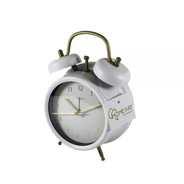 Relógio Despertador Branco