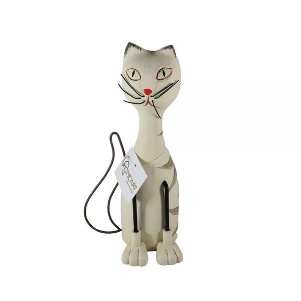 Figura de Gato em Madeira