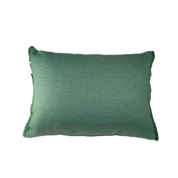 Almofada Verde com Franja