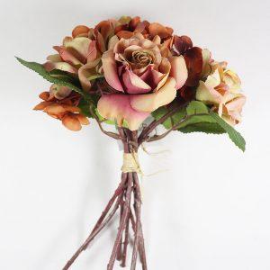 Bouquet Hortênsias e Rosas cor Rosa Velho Artificial | Homeart - Design e Decoração de Interiores | 1800039