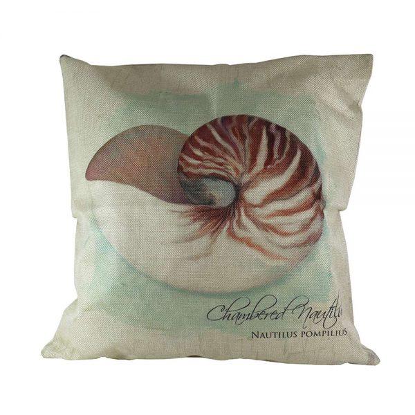 Almofada Linho Chambered Nautilus