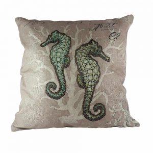 Almofada Linho Two Sea Horses | Homeart - Design e Decoração de Interiores | 18000481