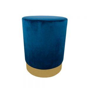 Puff Azul e Dourado | Homeart - Design e Decoração de Interiores | 19000214