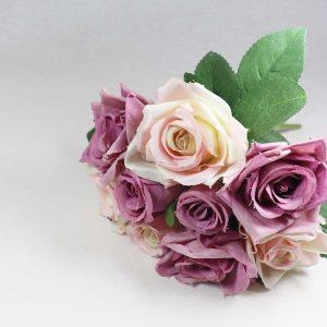 Bouquet de Rosas cor malva e rosa claro Artificial | Homeart - Design e Decoração de Interiores | 19000624