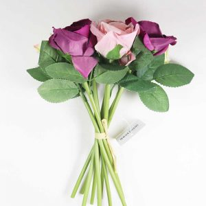 Bouquet de Rosas cor Branco, Rosa e Púrpura Artificial | Homeart - Design e Decoração de Interiores | 19000624