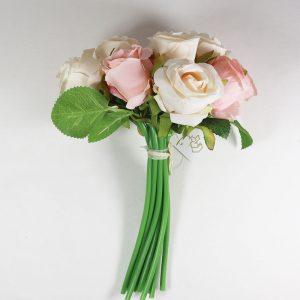 Bouquet de Rosas cor Branco e Salmão Artificial | Homeart - Design e Decoração de Interiores | 19000624