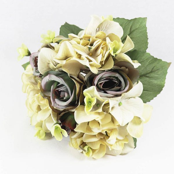 Bouquet de Rosas e Hidrângeas