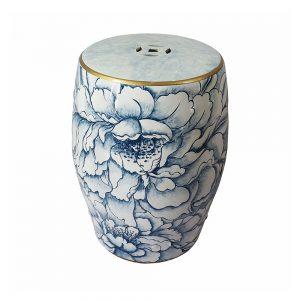 Tamborete Branco e Azul | Homeart - Design e Decoração de Interiores | 19000694