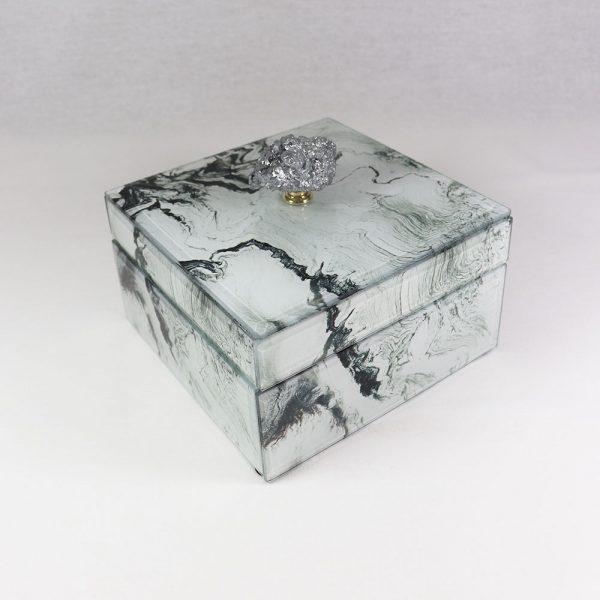 Caixa de Vidro efeito Mármore