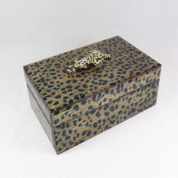 Caixa de vidro padrão Leopardo