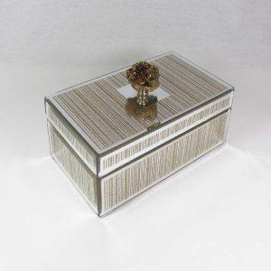 Caixa de vidro com pedra natural na tampa | Homeart - Design e Decoração de Interiores | 19000731