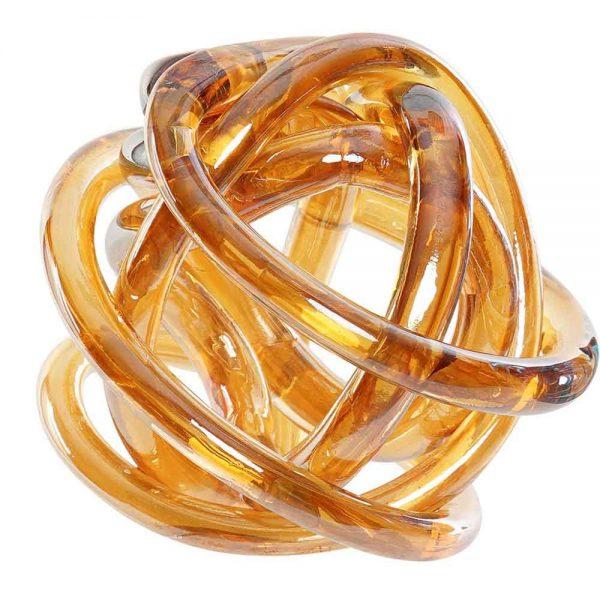 Figura de Vidro Dourado