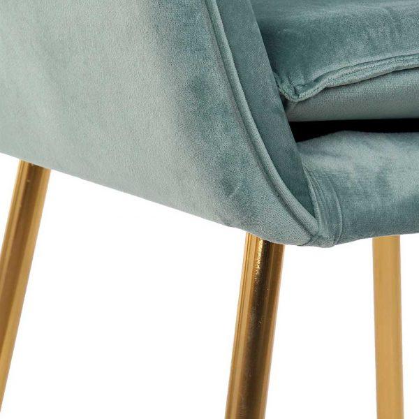 Cadeira Veludo Azul