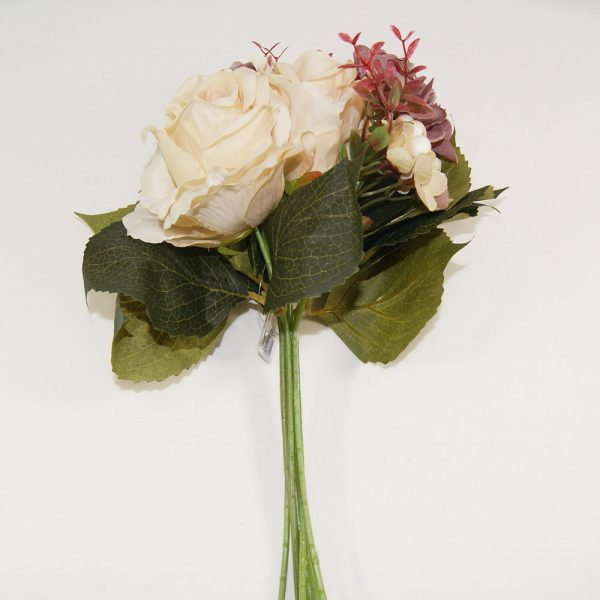 Atado de Rosas Malva e Bege