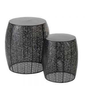 Set 2 Tamboretes Metal | Homeart - Design e Decoração de Interiores | 19000816