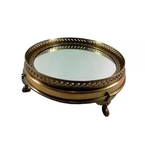 Tabuleiro em Latão com espelho