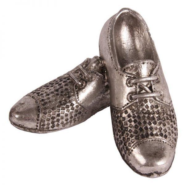 Sapatos Poliresina Prateados