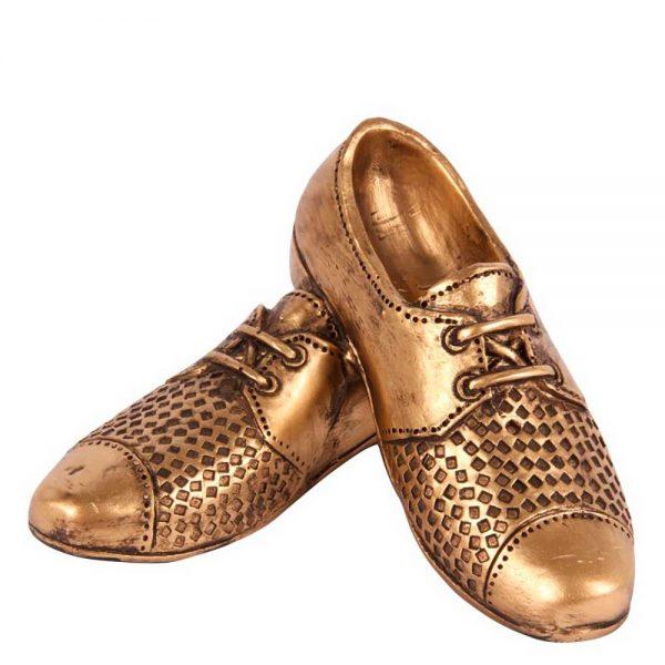 Sapatos Poliresina Dourado