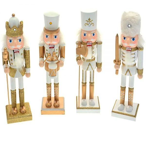 Soldado Madeira Branco e Dourado