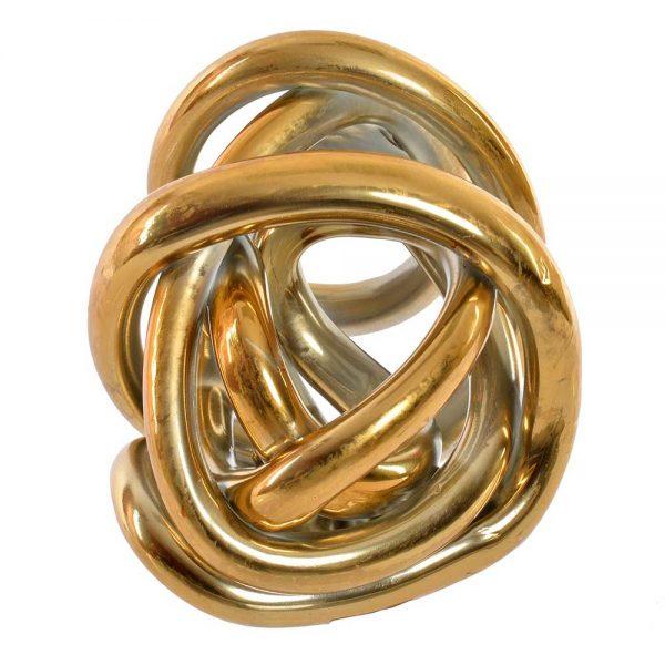 Figura Vidro Dourada