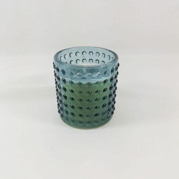 Vela Perfumada copo Vidro Azul