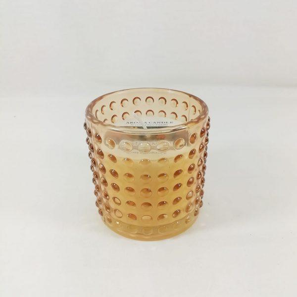 Vela Perfumada copo Vidro Laranja