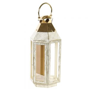 Lanterna Metal e Vidro 45 cm | Homeart - Design e Decoração de Interiores | 19000950