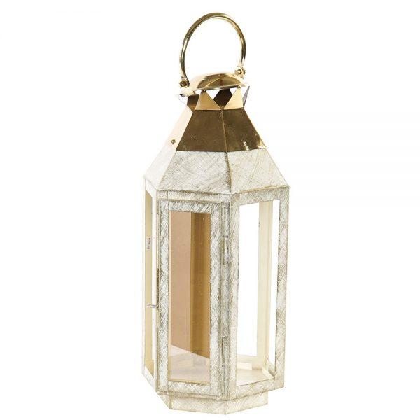 Lanterna Metal e Vidro 45 cm