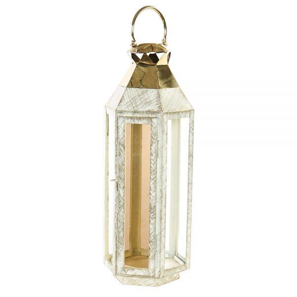 Lanterna Metal e Vidro 55 cm