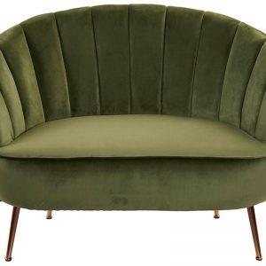 Sofá Veludo Pés Metal | Homeart - Design e Decoração de Interiores | 19000952