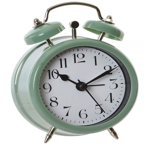 Relógio Despertador Vintage Azul