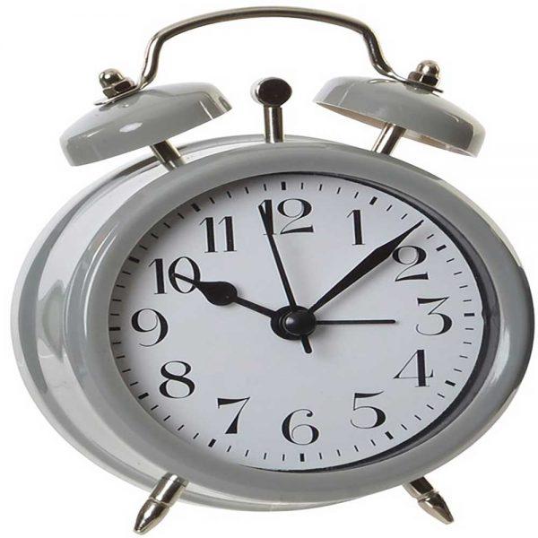 Relógio Despertador Vintage Cinzento