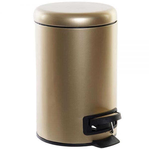 Caixote Lixo Metal Dourado