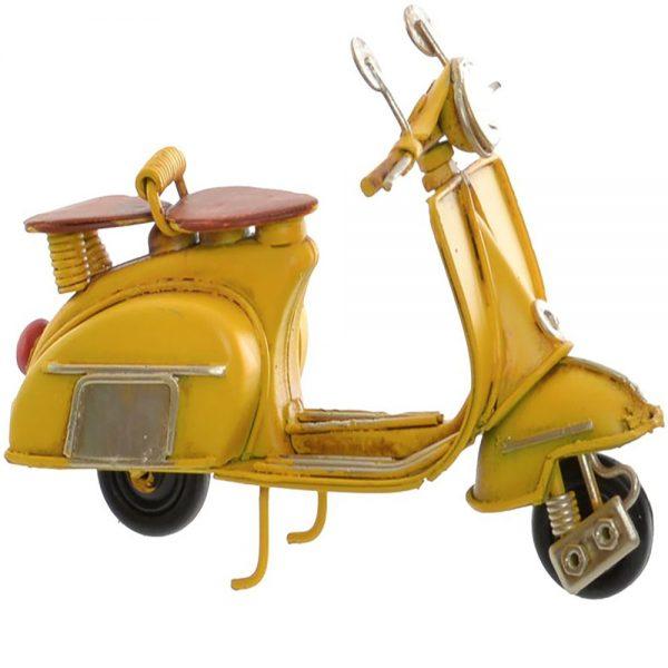 Lambreta Vintage Metal Amarelo