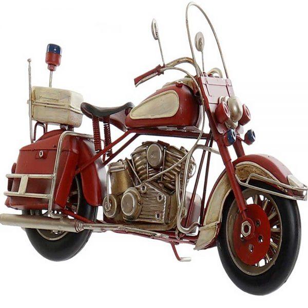 Moto Vintage Metal Vermelho