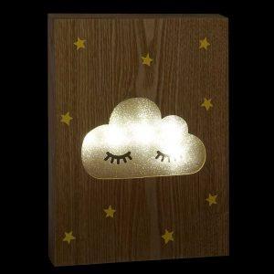 Placa Madeira LED Nuvem | Homeart - Design e Decoração de Interiores | 19000972