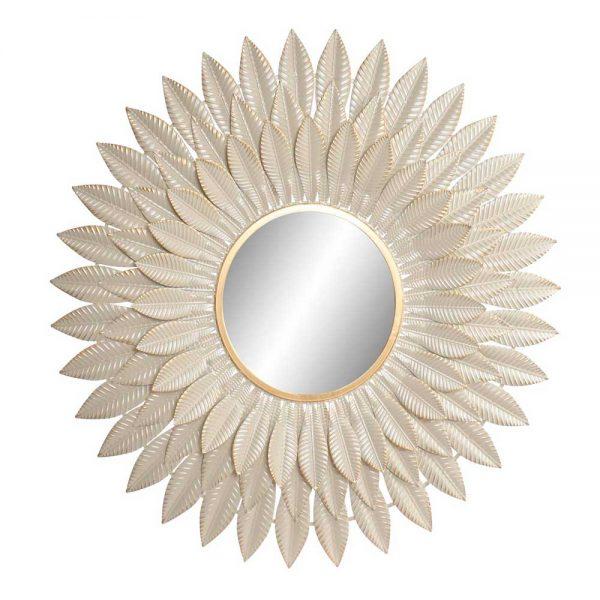 Espelho Metal efeito Folhas