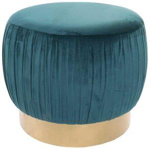 Puff Veludo Azul | Homeart - Design e Decoração de Interiores | 19000976